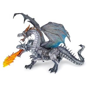 PAPO(パポ)38998 双頭ドラゴン シルバー   フィギュア hakoniwa