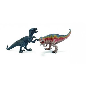 シュライヒ 42216 ティラノサウルス・レックスとベロキラプトル(小) 恐竜フィギュア|hakoniwa