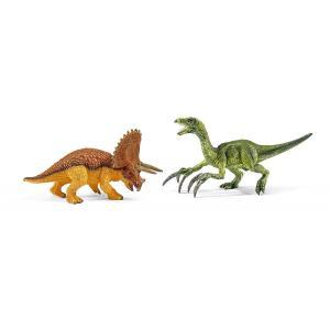 シュライヒ 42217 トリケラトプスとテリジノサウルス(小) 恐竜フィギュア|hakoniwa