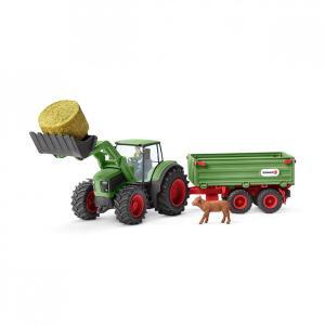 シュライヒ 42379 トラクターとトレーラー  動物フィギュア|hakoniwa