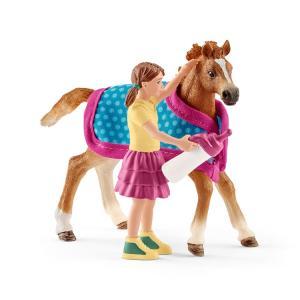 シュライヒ 42361 仔馬と毛布  動物フィギュア|hakoniwa