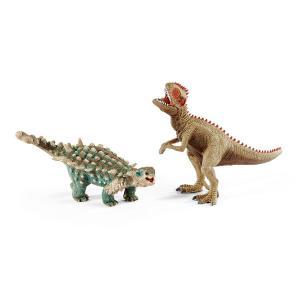 シュライヒ 41426 サイカニアとギガノトサウルス(小) 恐竜フィギュア|hakoniwa