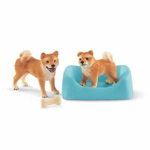 シュライヒ 42479 柴犬(母と仔) 動物フィギュア hakoniwa