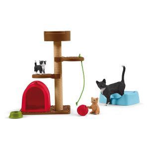 シュライヒ 42501 ネコのあそび場 動物フィギュア|hakoniwa