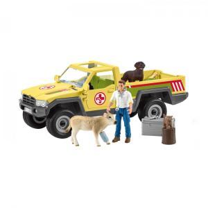 シュライヒ 42503 じゅう医とトラック 動物フィギュア|hakoniwa