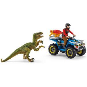 シュライヒ 41466 ベロキラプトルとクワッドバイク 恐竜フィギュア|hakoniwa