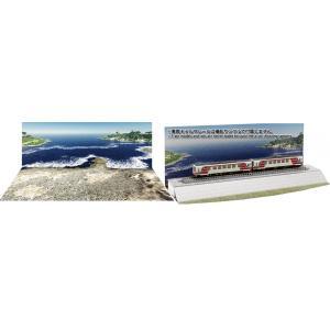 海岸線を走る路線をイメージしたジオラマレイアウト用紙製シートです。 裏面は盛土仕様の印刷になっており...
