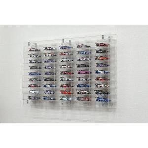 [箱庭技研] ミニカー&カーモデル向けUVカットアクリルディスプレイケースLC-001(組立式)壁掛け・据え置き両用タイプの画像