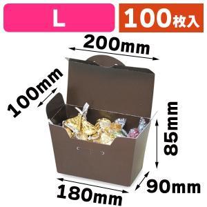 (洋菓子の箱)トラペゾイドBOXL/100枚入(16-173)
