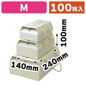 (手提箱)ナチュラル手提BOX M/100枚入(16-191)