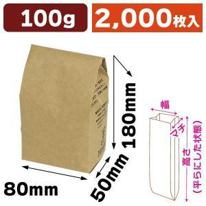 コーヒー用ブレスパック100g クラフト/2000枚入(COT-511)|hakonomise