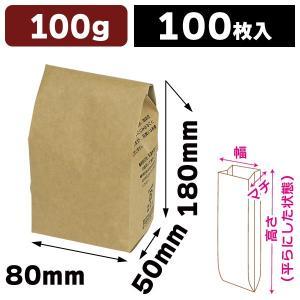コーヒー用ブレスパック100g クラフト 【小口】/100枚入(COT-511X)|hakonomise