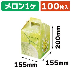 (メロンの箱)K-110 ベルデメロン 大 1個入/100枚入(K03-470110)|hakonomise