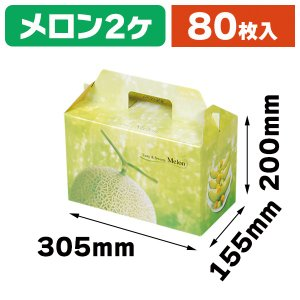 (メロンの箱)K-111 ベルデメロン 大 2個入/80枚入(K03-470111)|hakonomise