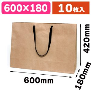 (手提袋)ファッションバッグ LLワイド 未晒無地/10枚入(K05-4901755590364)|hakonomise