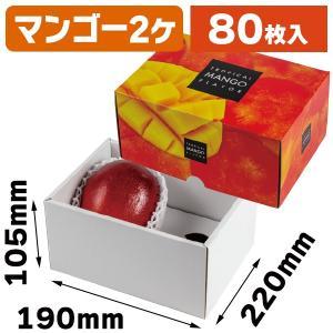 (マンゴーの箱)トロピカルマンゴー 2ケ/80枚入(L-2483)|hakonomise