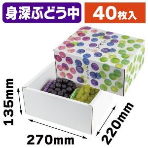 (ぶどうの箱)彩りぶどう 中 身深/40枚入(L-2486)|hakonomise