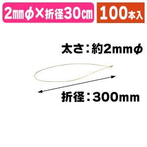 (ラッピング用ゴム紐)エクステリアゴールド30/100本入(OZ-600Y) hakonomise