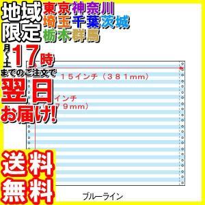 コンピュータ連続用紙 カラーフォーム用紙 15×11ブルーライン 2000枚|hakourisenka