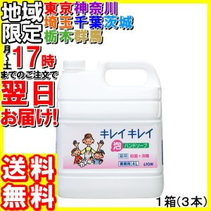 ライオン/業務用キレイキレイ薬用泡ハンドソープ4L×3本|hakourisenka