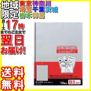リヒトラブ/交換用ポケット B3Lタテ 55穴 10枚/N-1479|hakourisenka