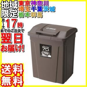 アスベル/ハンドル付カラー分別ペール 70L ブラウン/6727|hakourisenka