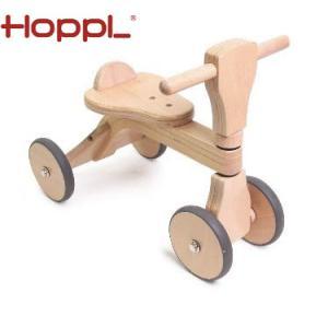 [代引できません]成長に合わせて楽しめるファーストウッディバイク安定感抜群の木製4輪車 インテリアと...