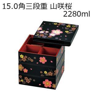 お重箱 重箱 お弁当箱 弁当箱 ランチボックス おしゃれ 2〜3人用 HAKOYA 15.0角三段重...