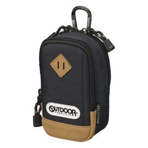 OUTDOOR PRODUCTS(アウトドアプロダクツ) コンパクトカメラとスマホを一緒に収納できる カメラポーチ 01 ブラック ODCP01BK 4977187289220 HAKUBA|hakuba