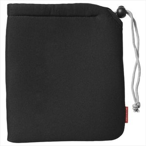 ハクバ やわらかい巾着型 カメラケース ソフトクッションポーチ L ブラック KCS-37L 4977187336528 HAKUBA|hakuba