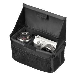 折り畳みできるインナーソフトボックス。普段使いのバッグがカメラバッグに早変わり! どんなバッグもこれ...