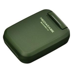 ハクバ メディアを安心 保護「ポータブルメディアケース S」 SD/MicroSDカード用 アーミーグリーン DMC-20SSDGR 4977187371307 HAKUBA|hakuba
