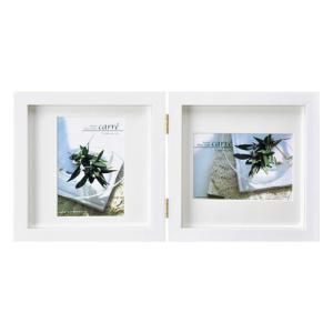 ハクバ フォトフレーム SQ木製額 カレ 写真サイズ:L判 2面 ホワイト FSQCR-WTL2 4...