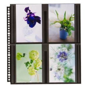 ハクバ フォトアルバム SF-6 プリントファイル 写真サイズ:ポストカード ブラック替台紙 4977187519235 HAKUBA|hakuba