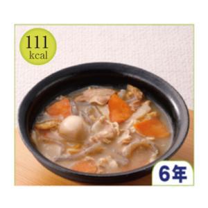 原材料名:人参、豚肉、蒟蒻、味噌、里芋、牛蒡、油揚げ、風味調味料、Ca塩、(原材料の一部に小麦、大豆...