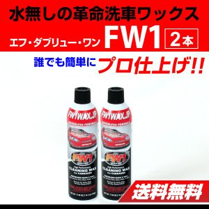 FW1 エフダブリューワン 水無し洗車ワックス 2本 送料無料