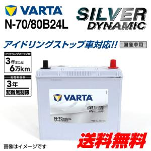 N-70/80B24L VARTA バッテリー SILVER Dynamic EFB SLN-70 国産車用 新品保証付 SLN-70 互換N-55  送料無料 hakuraishop