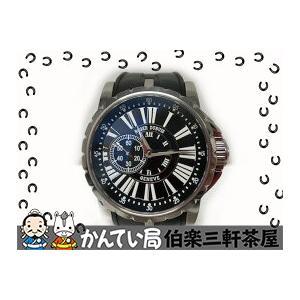 ROGER DUBUIS(ロジェドゥブイ)EX42 77 9 9.71R エクスカリバー 自動巻き ブラック文字盤 ラバーベルト メンズ腕時計【中古】|hakuraku78