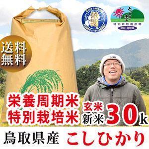 新米 29年 特別栽培米 減農薬 減肥料 鳥取県産 コシヒカ...