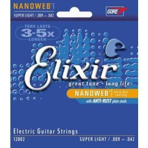 エレキギター弦 Elixir 12002 NANOWEB S...