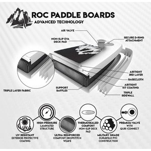 Roc Inflatable Stand Up Paddle Boards W Free Premium SUP Accessories &|hal-proshop2