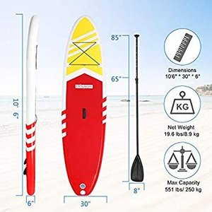 PEXMOR Inflatable Stand Up Paddle Board for Fishing Yoga Paddle Boardi|hal-proshop2