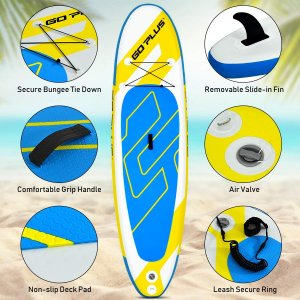 """Goplus Inflatable Stand Up Paddle Board, 6"""" Thick SUP with Accessory P