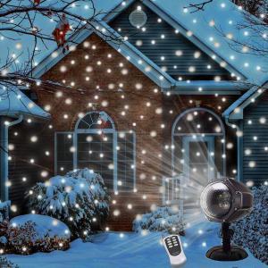 LEDの降雪プロジェクターライト付きクリスマススノーフレークプロジェクターランプ
