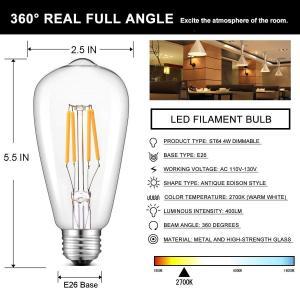 CRLight Dimmable LED Edison Bulb 4W 2700K Warm Whi...
