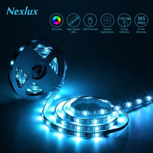 Nexlux TV Backlight, 9.8ft Black USB LED Strip Lig...