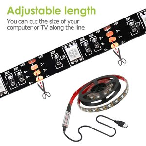 Led Strip Lights 6.56ft for 40-60in TV USB Backlig...
