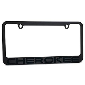 Jeep Cherokee Stealth Blackout License Plate Frame...