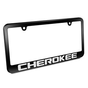 ジープチェロキーマットブラックメタルナンバープレートフレーム(Jeep Cherokee Matte...