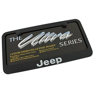 ジープブラックメタルナンバープレートフレーム(Jeep Black Metal License Pl...